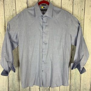 🔥Stacy Adams Mens Long Sleeve French Cuff Shirt
